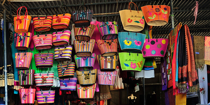 Souvenirs and gifts at the bazar of Grand Baie