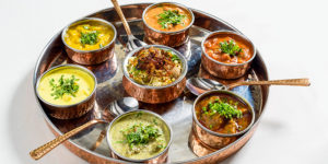 Indian dishes at Zafarani Restaurant