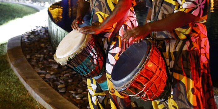 Themed weddings - African drums and dances