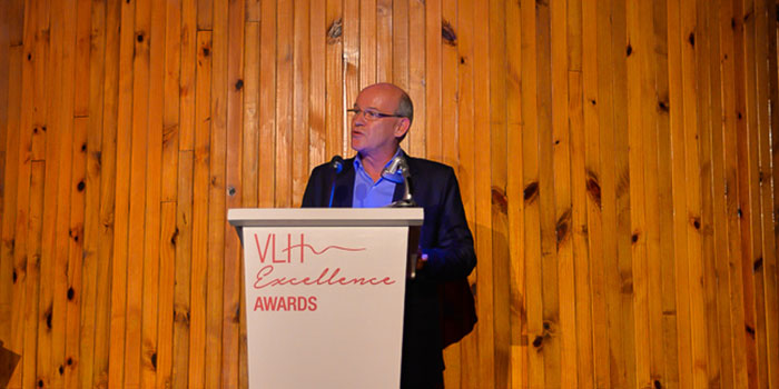 Francois Eynaud during the VLH Excelllence Awards