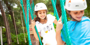 ropes and tyrolean traverse for kids