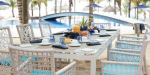 Breakfast at the C Beach Club, Bel Ombre, Mauritius