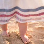 Baby concierge - first steps on the beach