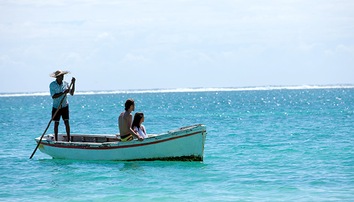 Romantic trip on a pirogue