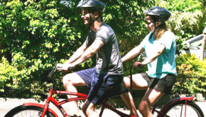Tandem bike excursion