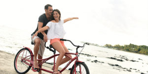 Discover the village on a tandem