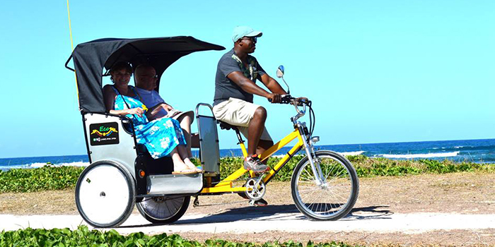 Rickshaw ride at Palmar