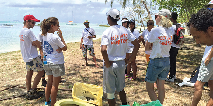 Veranda Resorts organised a beach clean up day at Ilot Bernaches