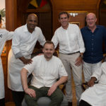 Chef David Toutain and the Mauritian chefs at the Chateau