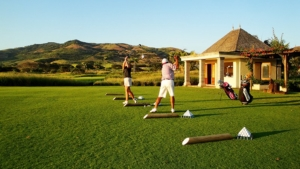 Golf initiation for beginners at the Best Golf Club in the Indian Ocean