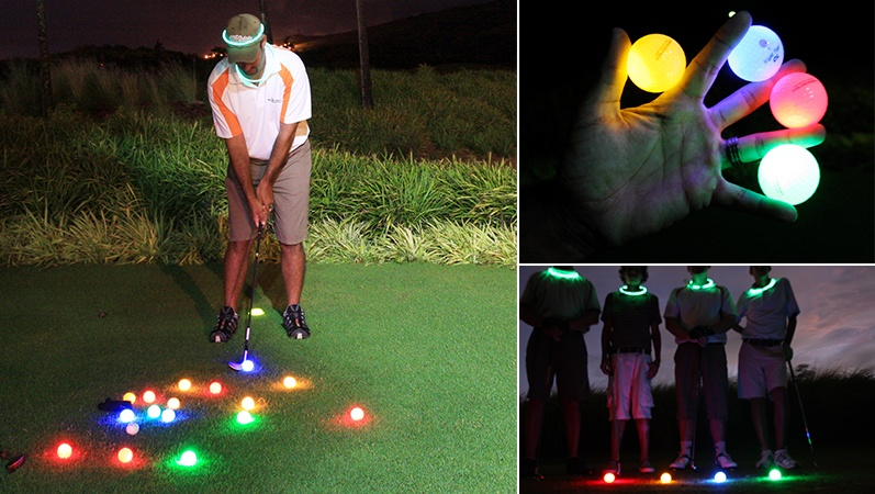 Night golf at Heritage Golf Club