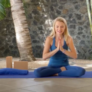 Yoga stretch to release anxiety